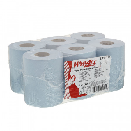 6223 Протиральний матеріал WypAll® Reach™, синій, 1 шар, 430 відривів, центральна подача