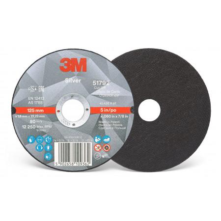 51792 Диск відрізний, 3M™ Silver, T41, 180 мм х 1.6 мм х 22 мм