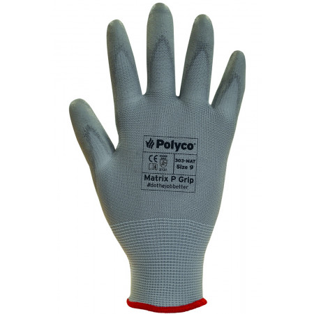 304-MAT Рукавички з ПУ покриттям 1/2 Matrix P Grip Gray р.10