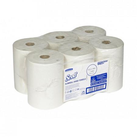 6697 Рушники в рулонах Scott® Slimroll, білі, 190 м., 1 шар