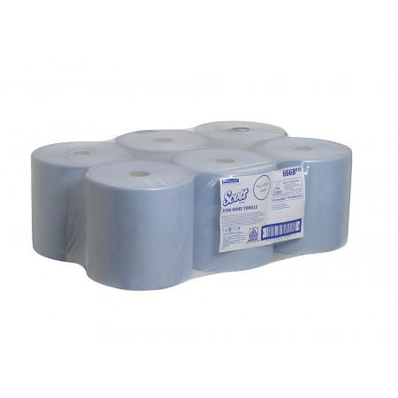 6668 Рушники в рулонах Scott®, блакитні, 304 м., 1 шар