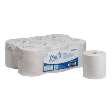6691 Рушники в рулонах Scott® Essential, білі, 350 м., 1 шар