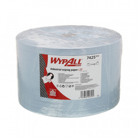 7425 Протиральний матеріал Wypall® L30 Ultra+, синій, 3 шара, 750 відривів