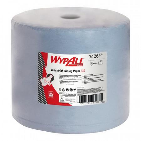 7426 Протиральний матеріал Wypall® L30 Ultra+, синій, 3 шара, 750 відривів, великий рулон