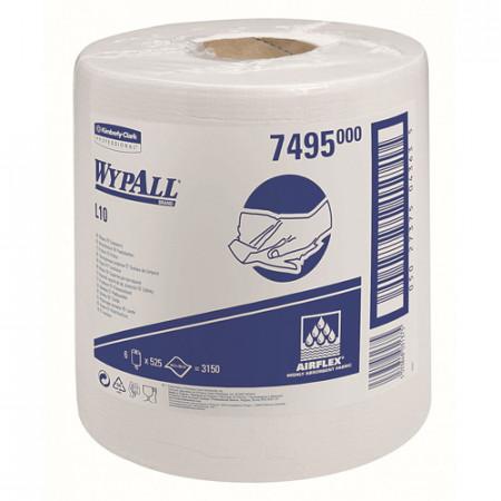 7495 Протиральний матеріал Wypall® L10 Extra, білий, 1 шар, 525 відривів, центральна подача