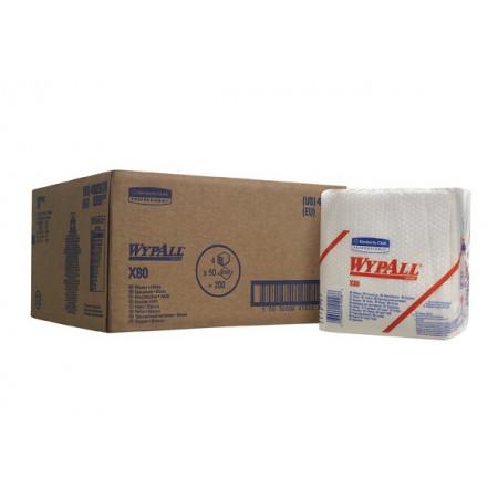 8388 Протиральний матеріал Wypall® X80, білий, 50 відривів, пачка