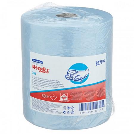 8371 Протиральний матеріал Wypall® X60, синій, 500 відривів