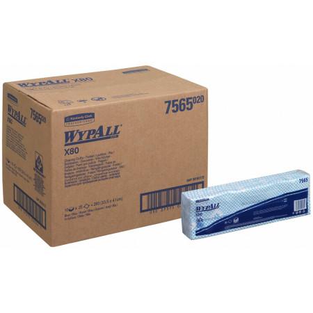 7565 Протиральний матеріал Wypall® X80, синій, 25 відривів, пачка