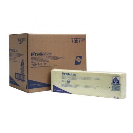 7567 Протиральний матеріал Wypall® X80, жовтий, 25 відривів, пачка