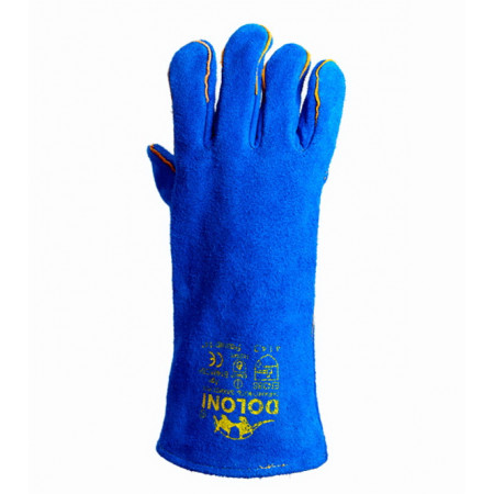 4508 Рукавички краги для зварювання сині