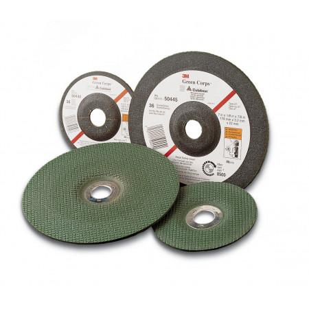 60637 Диск зачисний гнучкий, 3M™ Green Corps ™ по металу,125Х3Х22мм, P80