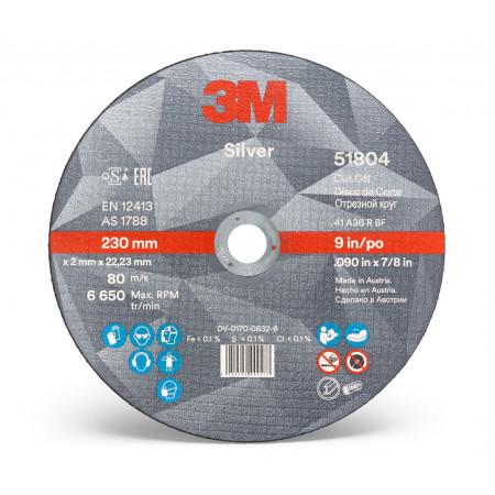 51804 Диск відрізний, 3M™ Silver,T41, 230 мм х 2 мм х 22 мм