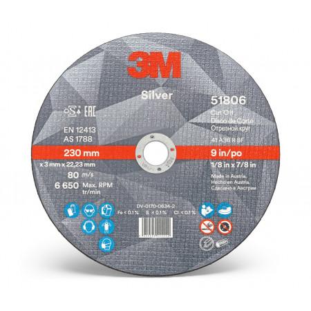 51806 Диск відрізний, 3M™ Silver, T41, 230 мм х 3 мм х 22 мм