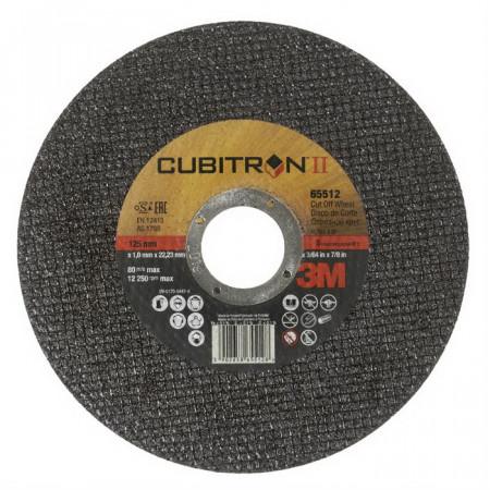 65512 Диск відрізний, 3M™ Cubitron™ II, Т41, 125 x1,0x 22,23 мм, A60
